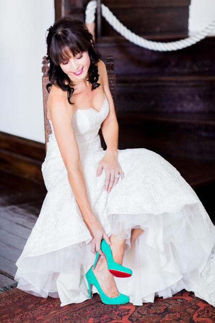 Chaussures de mariage colorées