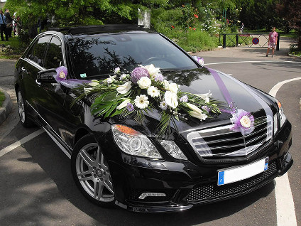 decoration voiture mariage simple