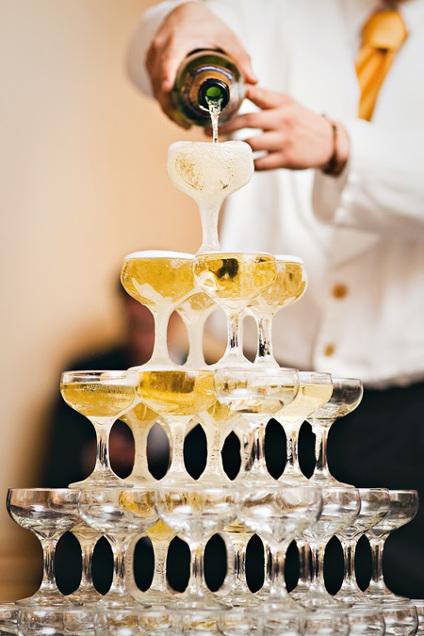 Fontaine à Champagne à un mariage