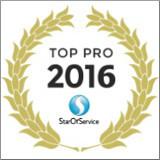Sonovation a été élu TOP PRO 2016 par StarOfService